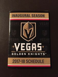 Vegas Golden Knights 2017-18 NHL pocket schedule - Inaugural Season ... 8c78ca29a