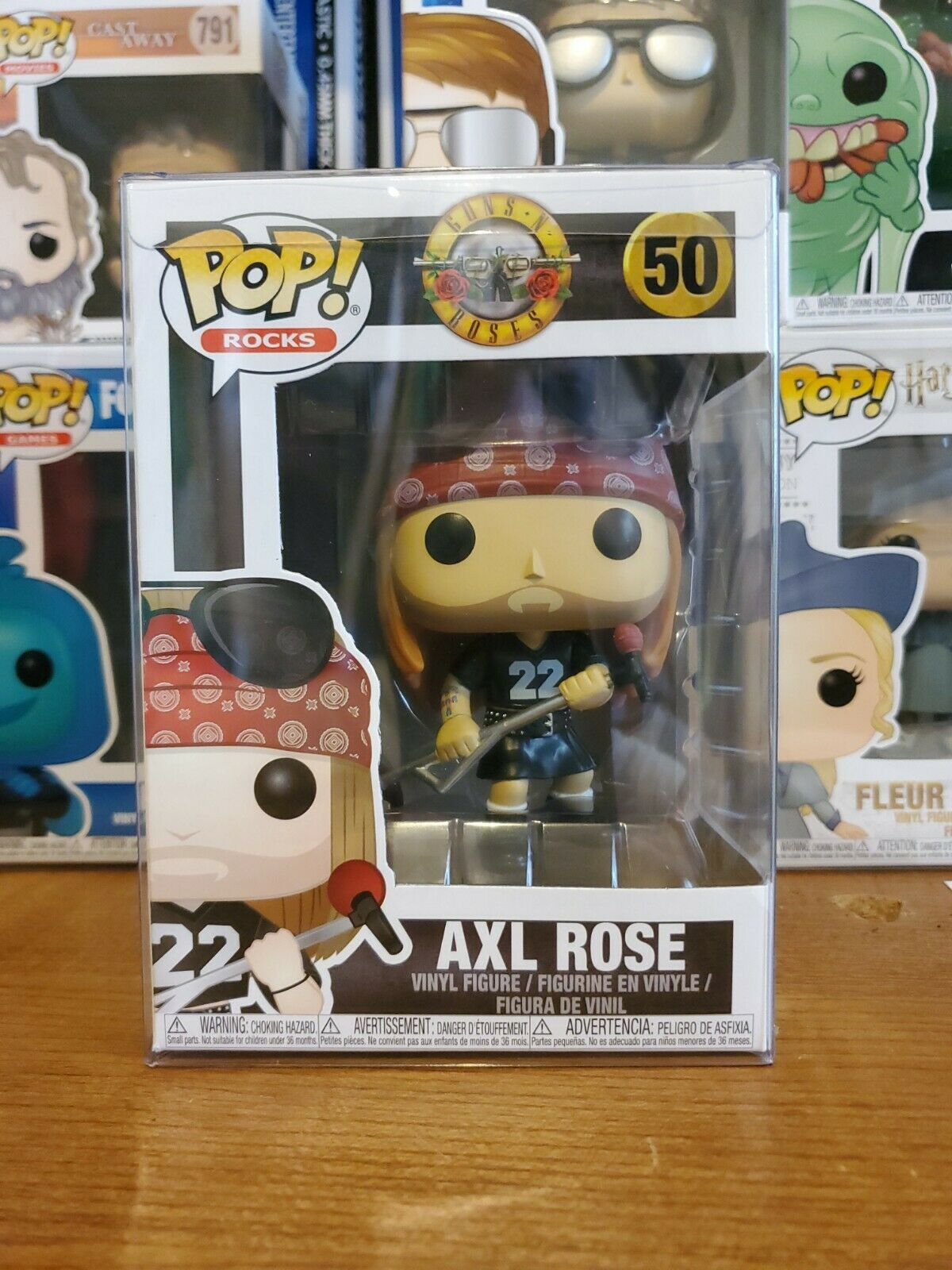 * Daños leves Caja Gratis P/&P FUNKO POP VINILO Rocks-Guns N /'Roses-Axl Rose #50