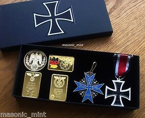 GERMAN-REPRO-MEDALS-COLLECTION-GERMAN-IRON-CROSS-BLUE-MAX