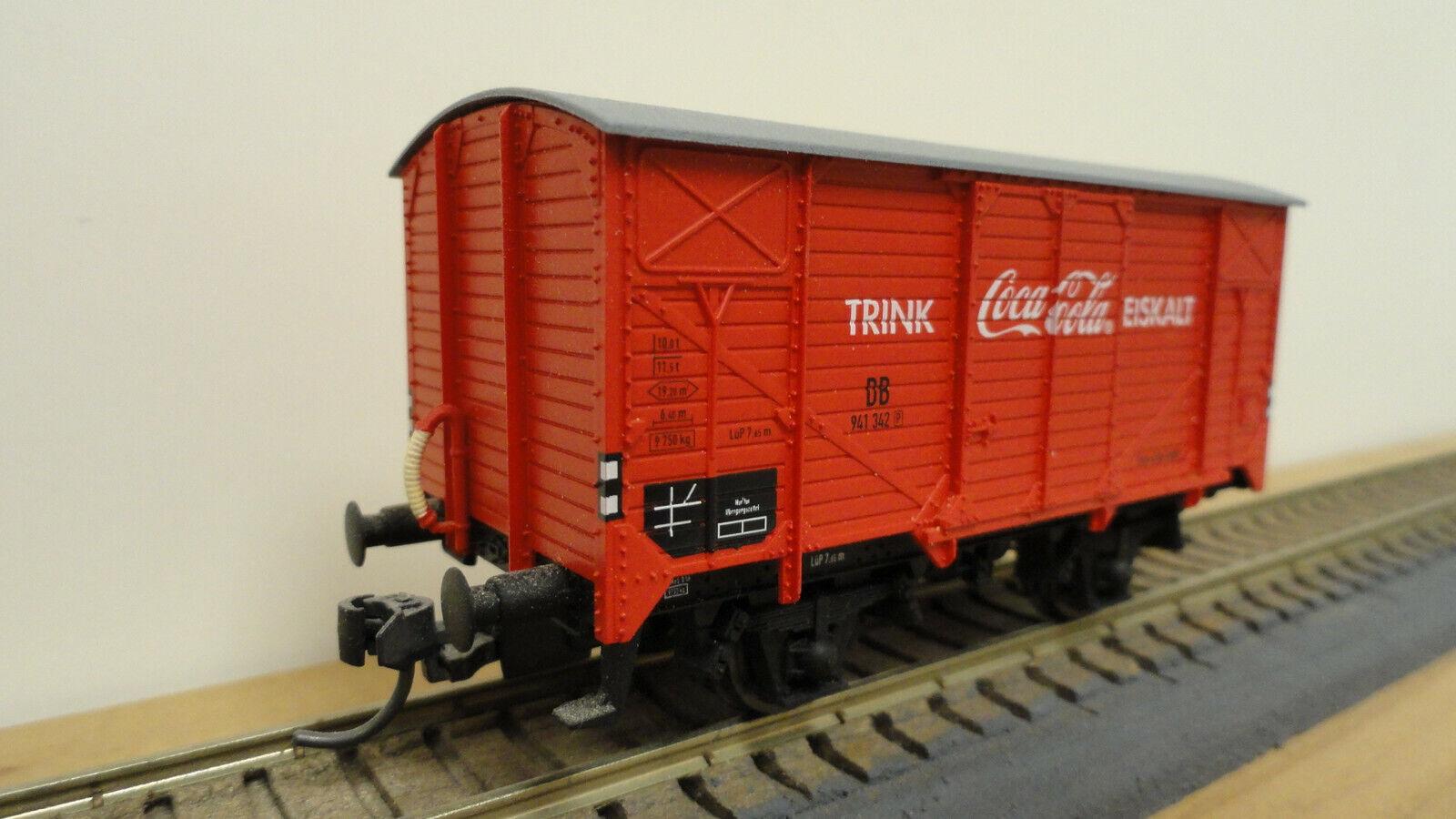Electredren HO J045 DB Coca-Cola wagon w  Kadee & RP25. No original box