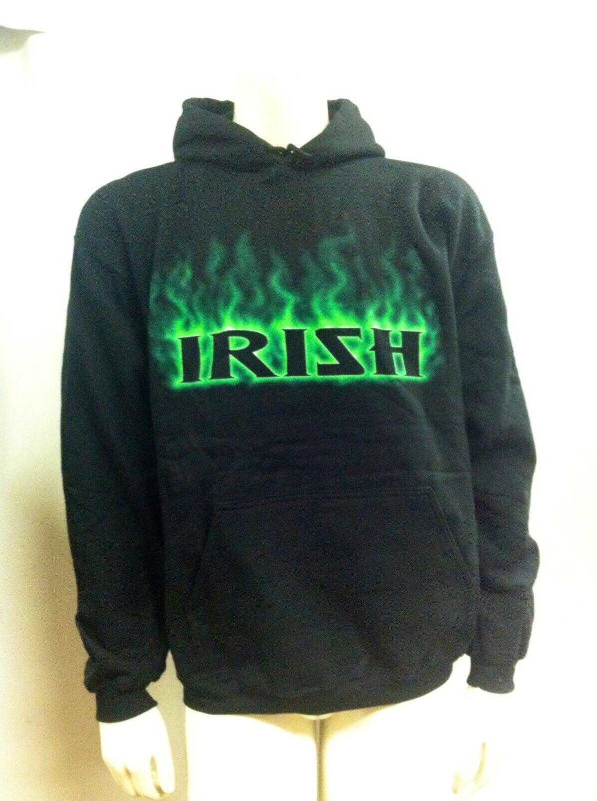 Authentique Irlandais Flamme Flamme Irlandais Ireland Bière Combat Leprechaun Capuche S/M/L/XL 805eff
