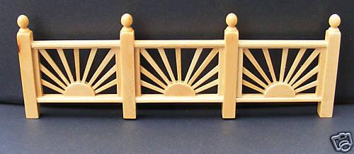 Escala 1:12 Sol De Madera Individual tumdee valla de enrejado de Casa de Muñecas Accesorio de jardín
