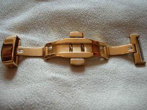 Watches, Parts & Accessories Other Watches Responsible Pour Bracelet 24 Mm Boucle Deployante Papillon 22mm Plaquee Or Jaune A Poussoirs