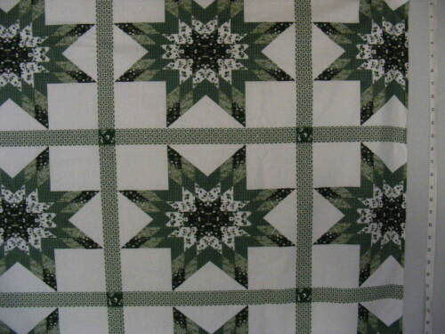 """Cheater Quilt Top Material By The Yard,90/""""wide,/""""Starlast Green/"""""""