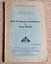 International Labour Office. 1943. Joint Production Comm. In Great Britain.