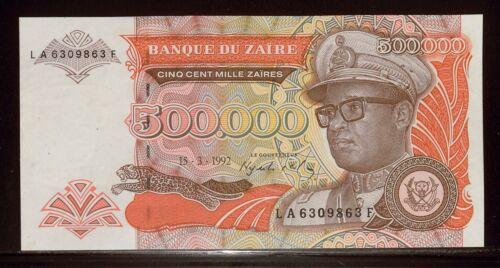 Zaire 1992 500,000 Zaires UNCHydroelectric Dam Bank11328