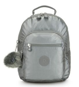 48c57ed3f9d Image is loading Ladies-Backpack-KIPLING-Clas-Seoul-S-KI2642-Metallic-