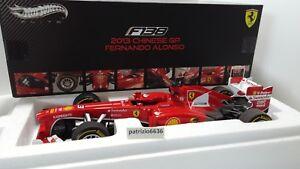 Elite 1/18 Ferrari F1 F138 N ° 3 Vainqueur Gp Chine 2013 F. Alonso Art.   Bct82