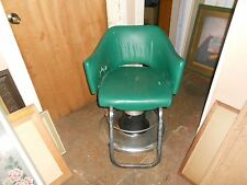 Designer Large Round Foot Pump Barber Chair