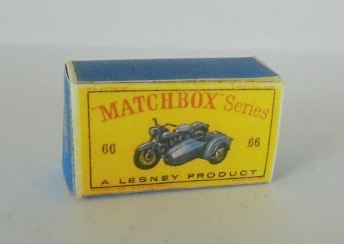 Repro box Matchbox 1:75 nº 66 Harley-Davidson Motorcycle and sidecar