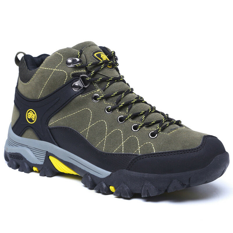 Men's Outdoor Sport Trekking Hiking shoes Warm Faux Fur Lined Lace Up Snow Boots