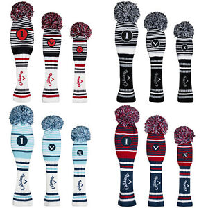 Callaway PomPom Headcovers - Golf Club Cover Replacement Acrylic Yarn Retro
