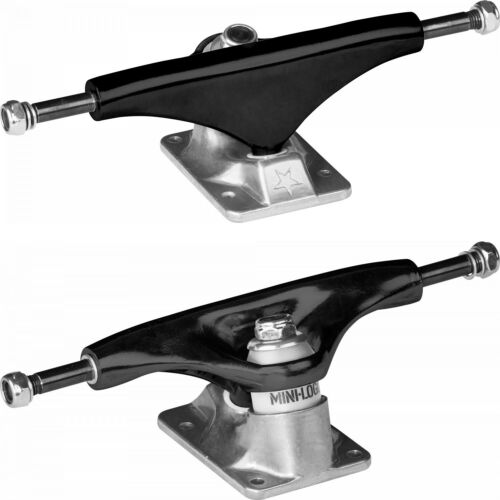"Powell Mini Logo Skateboard Trucks Wheels Bearings Pack Black 8.38/"" 53mm 101A"
