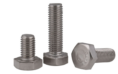 M10 x 1.5 10mm 316 A4 STAINLESS HEX HEAD TAP BOLTS SETSCREW FULL THREADED DIN933
