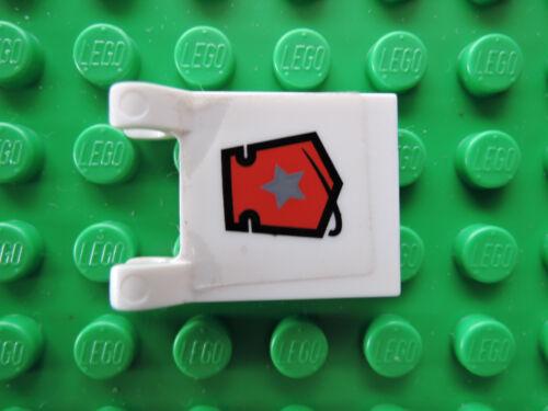 Lego 1 x Flagge Fahne 2335pb057 weiß  2x2 Sticker Space Police 5969