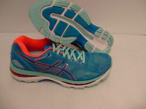 buy popular 5ed99 7f338 Details about Asics women's gel nimbus 19 running shoes diva blue flash  coral size 8.5 us