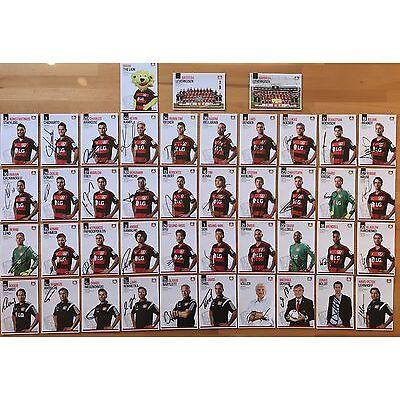 43 AK Bayer 04 Leverkusen Autogrammkarten 2015-16 original signiert
