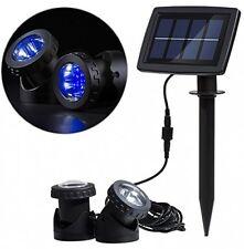Solar Powered Underwater Lamps Light Sensor Projector Garden Pool Pond Yard NEW