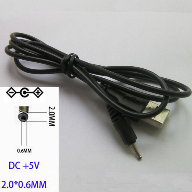 50cm USB 2.0 to DC 2.0mm NOKIA Power Charger Cable Adapter DC 5V Supply Charge