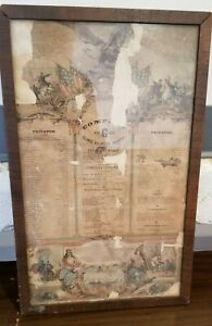 Vintage-Civil-war-Roster-Illinois-Volunteer-Infantry-Co-G-47th-Regiment-Soldier