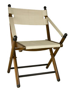 Details About British Campaign Style Folding Chair 36 Wooden Portable Camp Outdoor Furniture