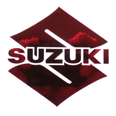 Suzuki S Chrom Rot Motorrad Aufkleber Massgefertigt Grafik 70mm X