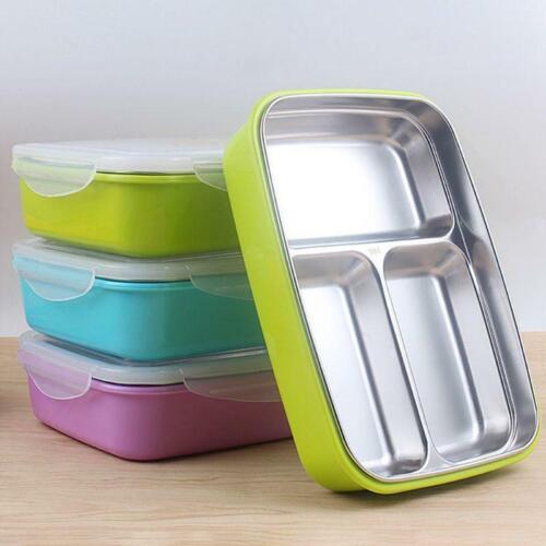 Children Kids Steel Lunch Box Picnic Office Bento School Food Thermal Crisper