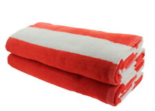 Resort Quality Cabana Ombre Orange Beach Towels Pack Of 2 Cabana Stripe Pool