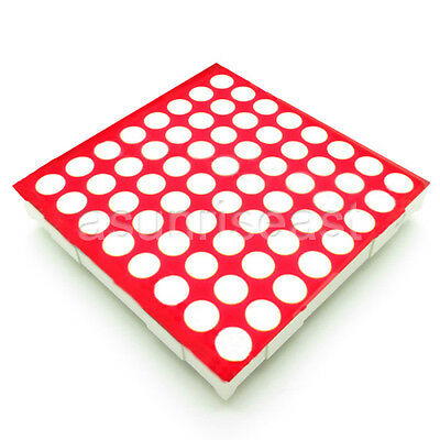 10 pcs LED Dot Matrix Display 3mm 8x8 Red Common Cathode 32x32mm 16pin New