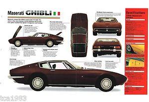 MASERATI GHIBLI SPEC SHEET / Brochure / Catalog / Photo's ...