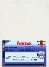 100 Pcs Hama Negative Glassine Sleeves Sheet Museum Quality for 35mm Film Strips