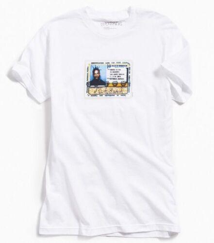 "Wu-Tang Clan ODB ID CARD /""OL DIRTY BASTARD/"" White T-Shirt NWT 100/% Authentic"