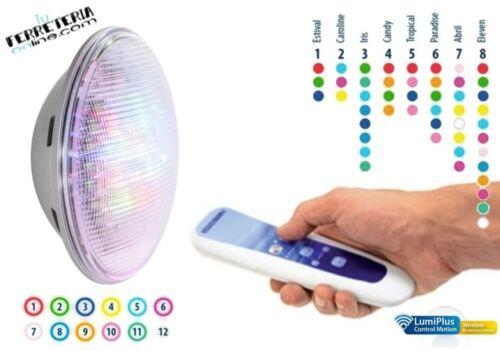 FOCO LUZ LED RGB LUMIPLUS 1.11 PAR56 MANDO A DISTANCIA 59126 KIT 1 LAMPARA