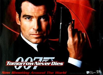 Tomorrow Never Dies 1997 Pierce Brosnan James Bond Uk Quad Poster Advance Ebay