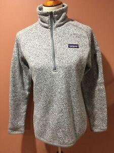 quality design performance sportswear in stock Patagonia Better Sweater Half Zip Slim Fit Knit Fleece Gray Jacket ...