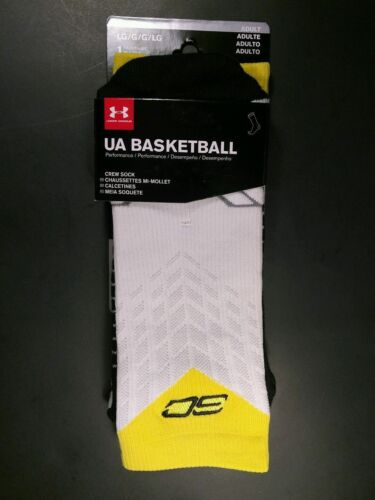 Under Armour Men/'s SC30 Stephen Curry Drive Crew Basketball Socks  Womens Large