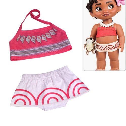 Toddler Baby Girls Children Moana Cosplay Swimwear Suit Bikini Costume Cartoon
