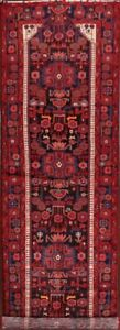 Geometric Tribal 16 ft Long Runner Nahavand Hamedan Wool Rug 16' 0 x 3' 7""