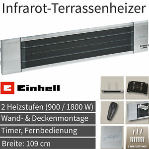 Einhell Elektro Infrarot Heizstrahler Terrassen Heizer Wärme Strahler Heizung