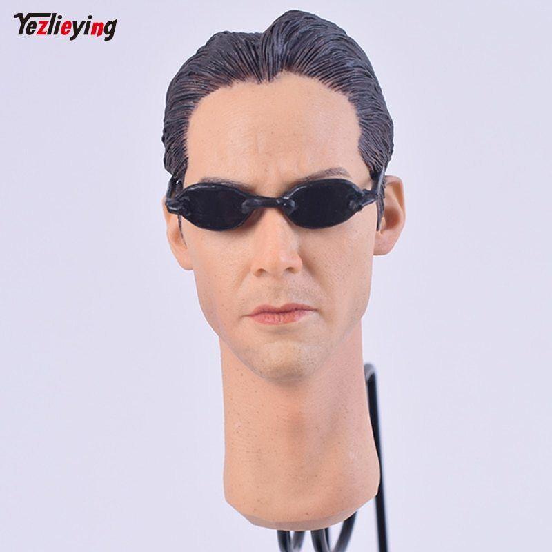 1 6 Male Accessories Head Carving Sculpt Keanu Reeves Matrix Neo Fit 12'' figure