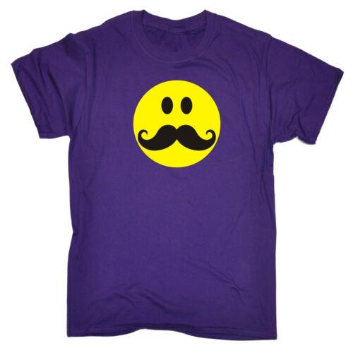 Viso sorridente con baffi T-shirt danza Festival Rave Party DJ regalo di compleanno