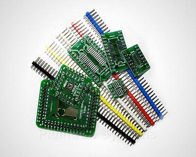 6 Stck. SMD-Adapterplatinen mit Stiftleisten, SOIC, SSOP, TQFP, QFN