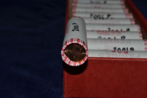UNCIRCULATED 2001 P OBW LINCOLN CENT ROLL