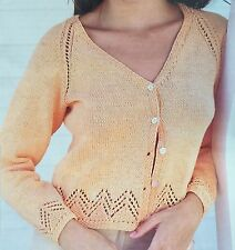 "FL18 - Knitting Pattern - DK Cardigan & Matching Vest Top - 34-42"" chest"