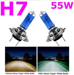 2 pcs h7 6000k xenon gas halogen headlight white car light lamp bulbs 55w 12v f4 ebay. Black Bedroom Furniture Sets. Home Design Ideas