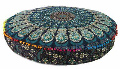 "35/""Floor Cushion Bohemian Indian Cover Mandala Throw Pillow Case Insert Filler"