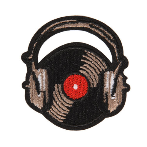 music iron on patch sew embroidered applique fabric badge clothes sticker WH