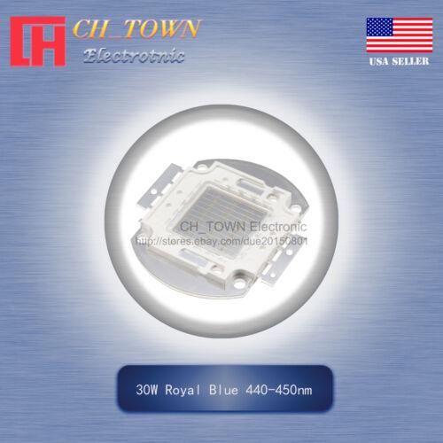 1Pcs 30W Watt High Power Royal Blue 440-450nm SMD LED Chip Blub Beads COB Lamp