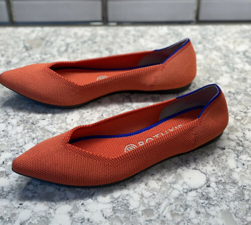 ROTHY'S Persimmon orange The Point Flats Women's S