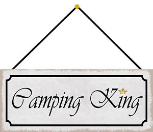 Camping King Tin Sign Shield with Cord Arched 10 X 27 CM K0678-K